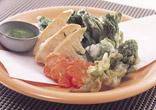 春野菜の卵白揚げ