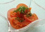 トマトのサラダオニオンドレッシング