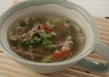 牛肉の梅風味スープ