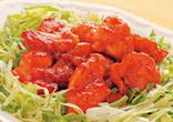 鶏の照り焼きピリ辛甘酢風味