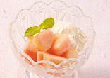 桃のヨーグルトアイス