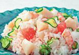 帆立とグレープフルーツの散し寿司