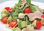 豚肉と水菜の豆腐サラダ