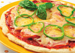 フライパンで作る生ハムのピザ