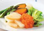 蒸し野菜のにんじんドレッシング