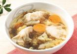 餃子ともずくの酸味スープ