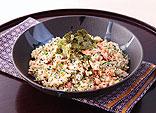 鮭と小松菜の混ぜご飯