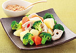 温野菜のくるみ味噌