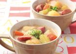 ウインナーの豆乳カレースープ