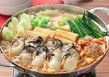 キムチ入りかき鍋