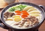 豚肉の豆乳鍋