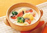 鮭の豆乳スープ