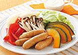 ウィンナーと野菜の蒸しサラダ