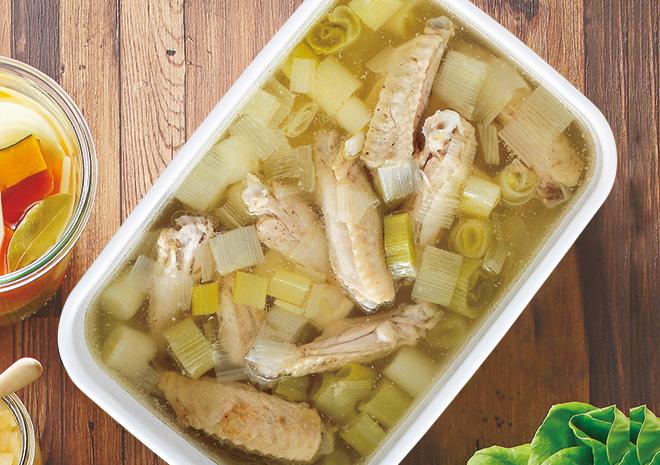 白ねぎと鶏肉のスープ
