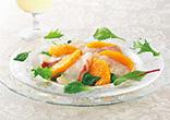 鯛のオレンジカルパッチョ