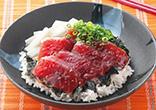 韓国風まぐろの漬け丼