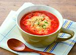 野菜ジュースのグラタンスープ