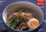 ゆで豚の韓国風丼