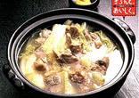 スペアリブとはくさいの煮込み鍋