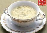 チーズ入りかき卵スープ
