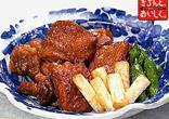 鶏と白ねぎの揚げ煮