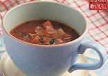 豚肉と大豆のトマトのスープ