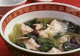 小松菜とワンタンのスープ
