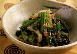 小松菜とちくわのごま和え