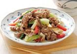 牛肉とチンゲン菜の炒めもの