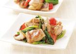 鶏肉とほうれん草の炒め物