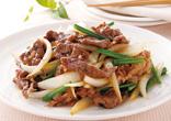 牛肉とたまねぎの炒め物
