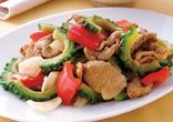豚肉と彩り野菜のスパイシー炒め