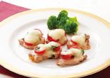豚ヘレ肉のトマトチーズ焼き