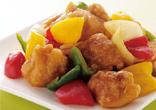鶏肉と彩り野菜の甘酢炒め