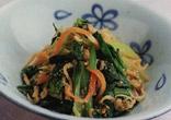 小松菜と切り干し大根のごましょうゆ