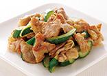 豚肉ときゅうりの生姜炒め