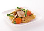 豚ヘレ肉と春野菜の焼き漬け
