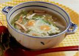うずらたまごの巣ごもりスープ