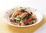 豚肉と春野菜の味噌マヨ炒め