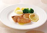 鮭のムニエル レモンソース