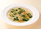 オクラとえのきの冷製スープ