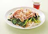 小松菜と豚肉のフライパン蒸し