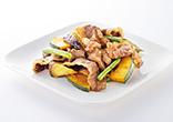 牛肉と秋野菜のスパイシーソース炒め