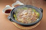 豚肉とみずなの鍋蒸し