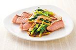 鮭の野菜甘酢あんかけ