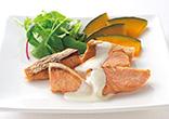 鮭のヨーグルトレモンソース