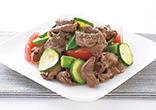 牛肉と夏野菜のソテー