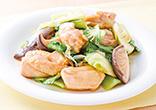 鶏肉とチンゲン菜のオイスターソース炒め