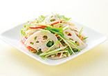 れんこんと水菜のサラダ