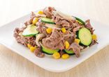 牛肉とズッキーニの炒め物